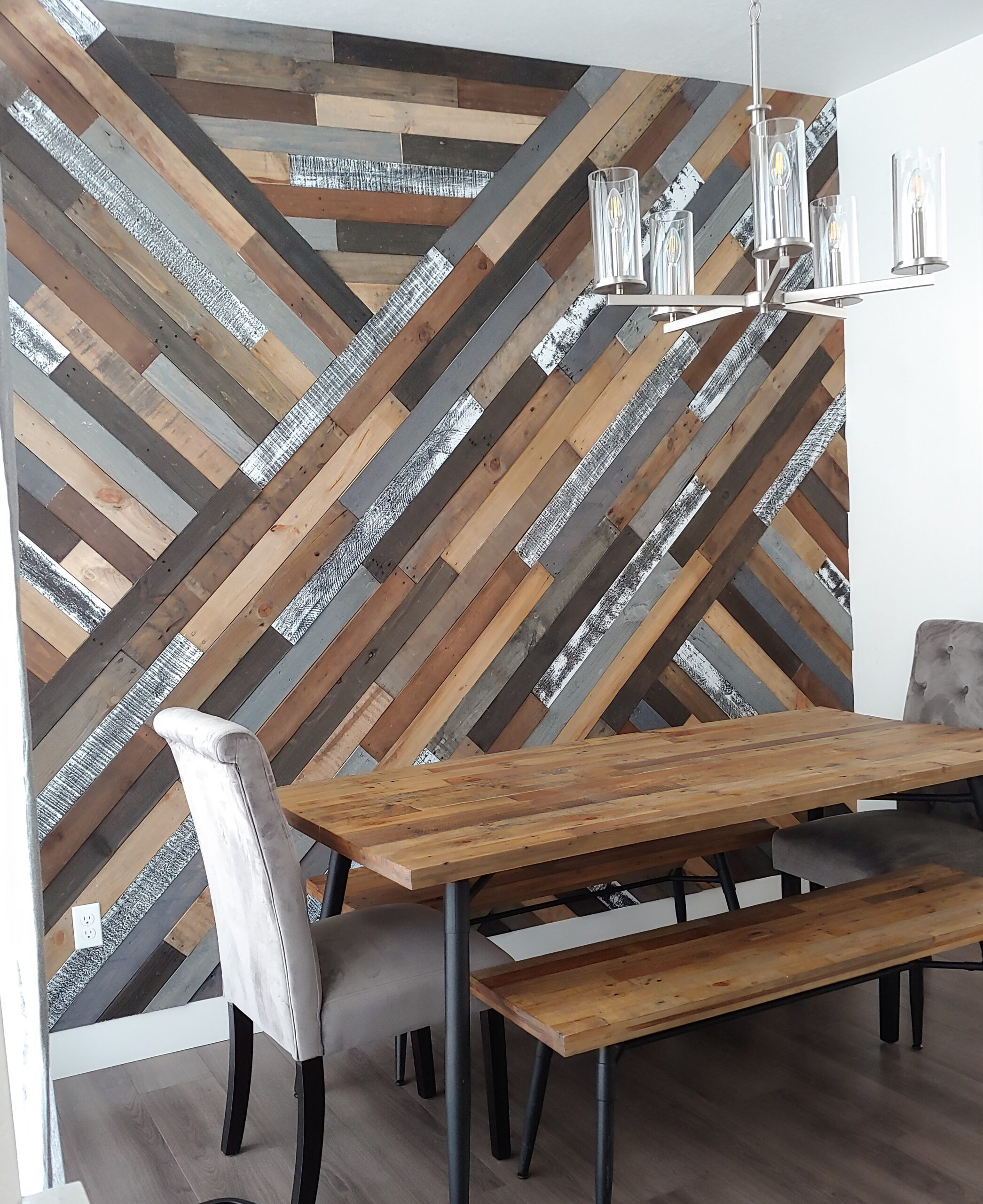 DIY Pallet Wall, Wood Accent Wall, Feature Wall - SLC ...